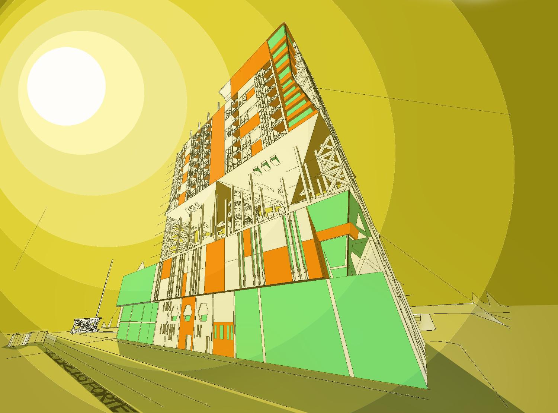 lucioforte futuristic building 22