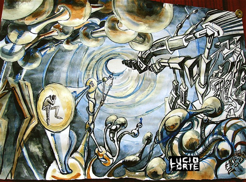 LUCIO FORTE 2009 mixed technique 21 x 30