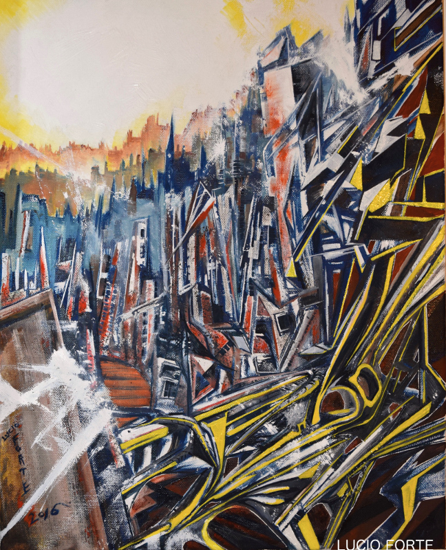 lucio forte, unknown cities2 50x40 oil on canvas AB